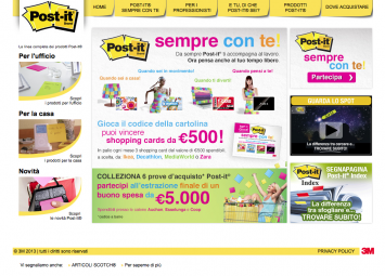 Post-it.it – Sito promozionale 3M Post-it®