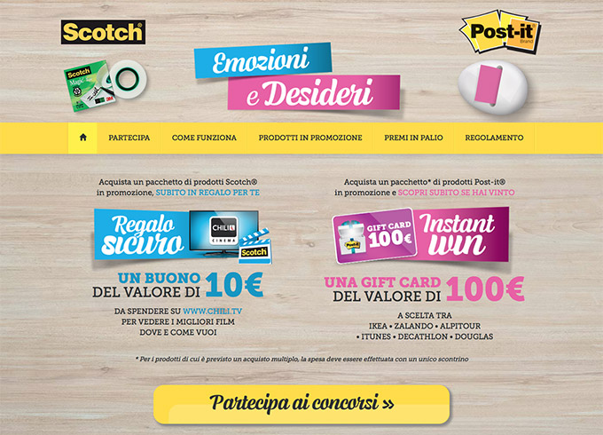 Post-it® & Scotch® – Concorsi 2017