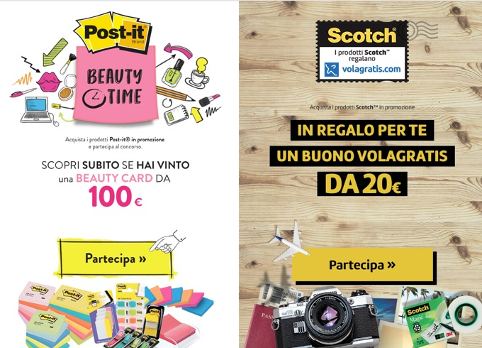 Post-it® & Scotch® – Concorsi 2018