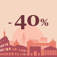 Sconto 40% corsi personalizzati estate a Roma