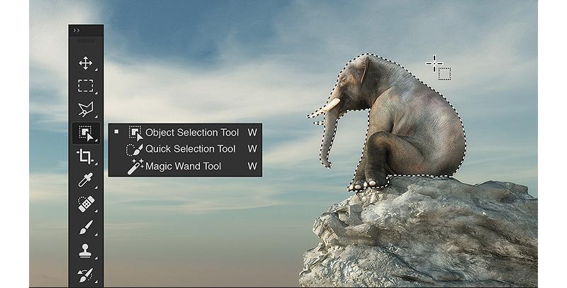 Corso Adobe Photoshop, strumento seleziona oggetto