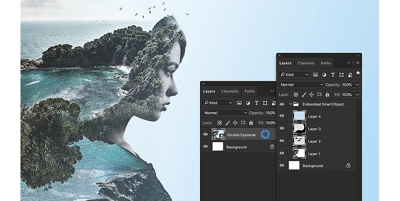 Corso Adobe Photoshop, nuova voce menu Converti i livelli