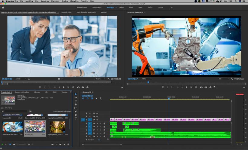 corsi professionali video editing in espero