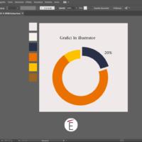 Un esempio di grafico realizzato direttamente in Illustrator